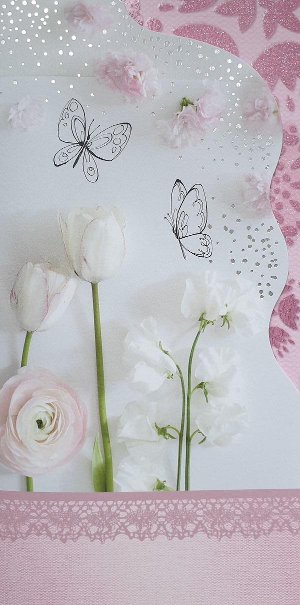 """Õnnitluskaart """"Lilled ja liblikad"""""""